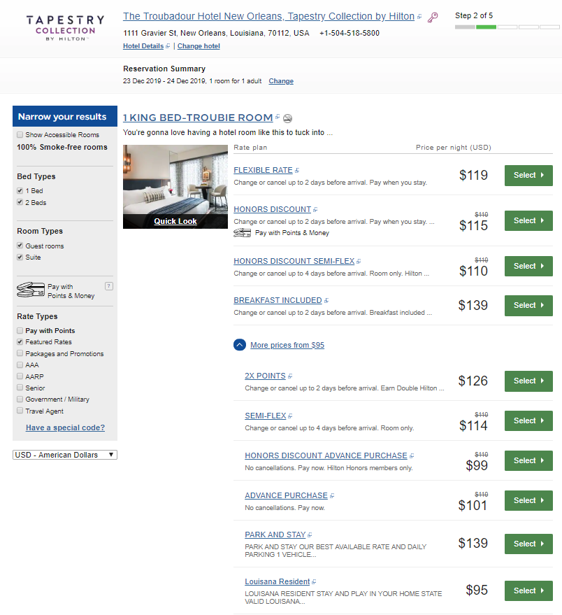 《酒店Bug价 - 100美元的新奥尔良精品酒店高级套房》