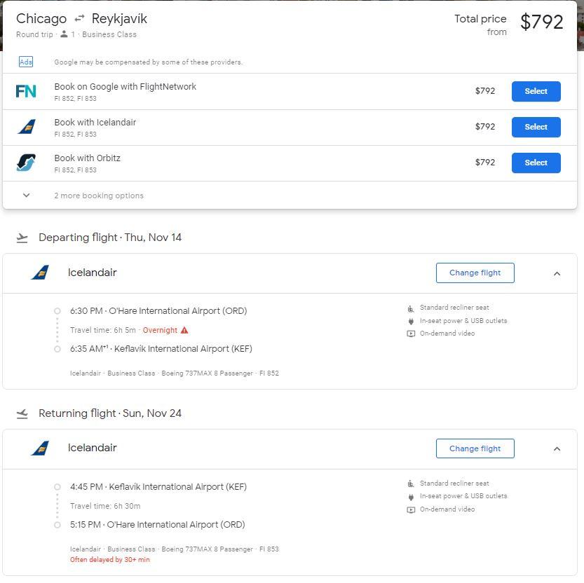 《海量700美元成本价不到的欧美超值商务舱机票去冰岛游玩了》