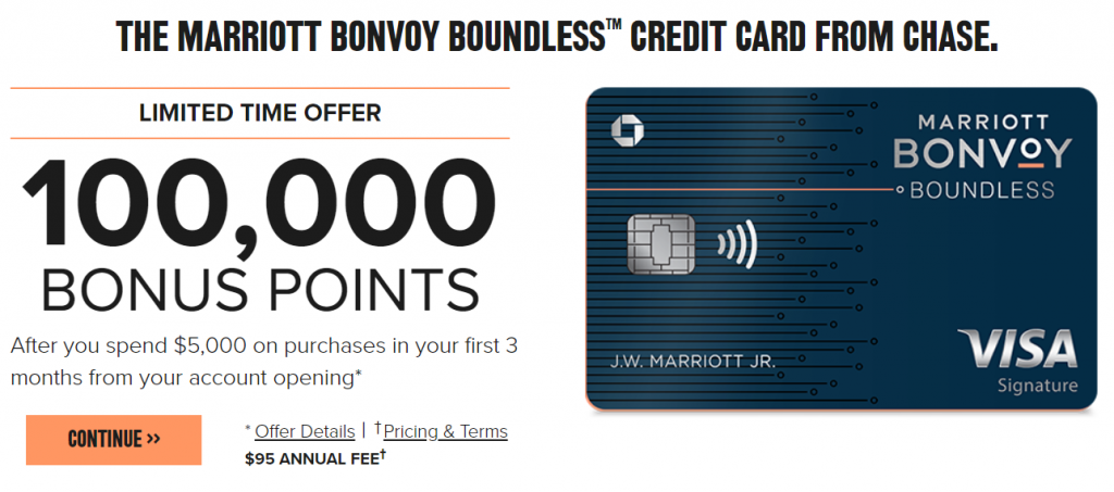 《100K史高奖励最后两天 - Chase Marriott Bonvoy Boundless信用卡》