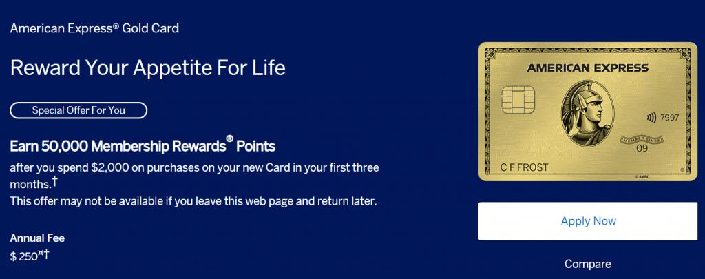 《全面升级的超强福利神卡再升级 - American Express Gold Card(全球餐厅消费都有4x返点!)》