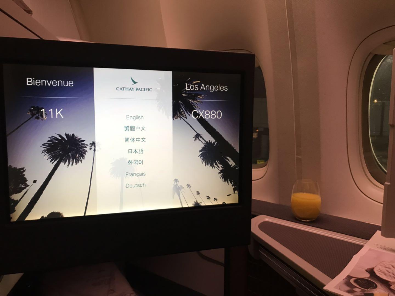 《午夜飞行——并不是那么完美的国泰B777-300ER(香港 – 洛杉矶) 商务舱报告》