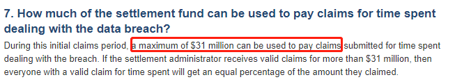 《快来躺着领钱了 - Equifax数据泄露事件受害者可以获得至少125美元的赔偿【动态更新:貌似领不到这么多钱了】》