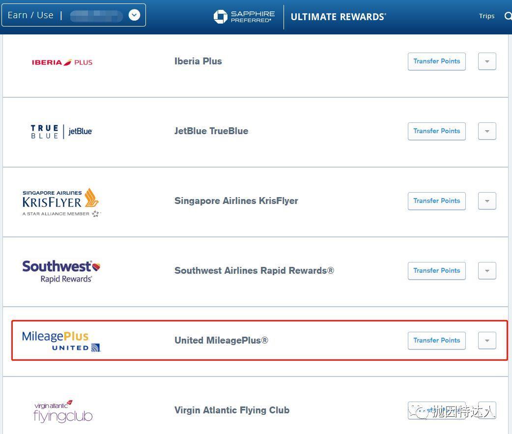 《简单易用,新手最爱 - 美国联合航空(United Airlines)里程教程》