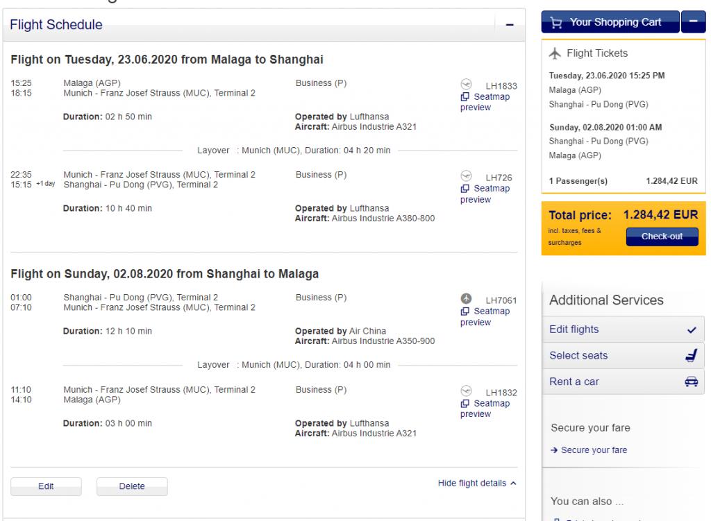 《一次体验两家航司长途商务舱产品 - 1400美元的汉莎 / 国航商务舱往返中欧》