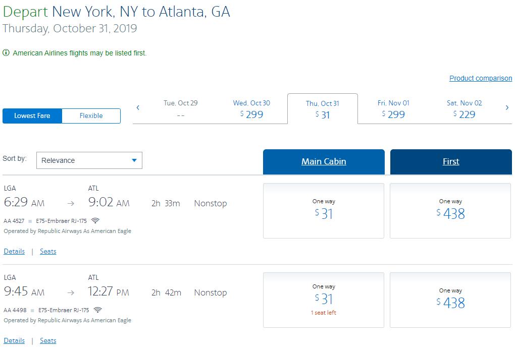 《万圣节也有机票促销 - 大量31美元或者200里程起的机票正在等着大家》
