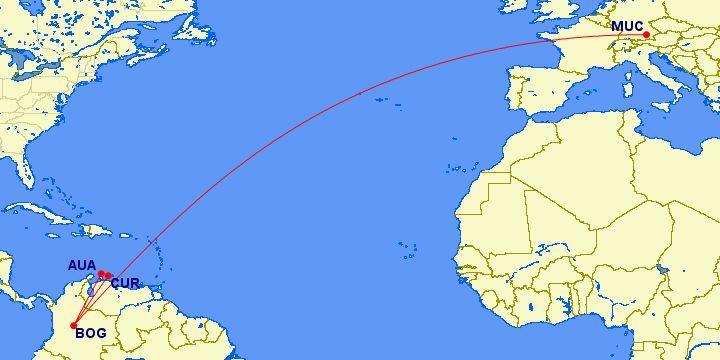 《全年可订 - 哥伦比亚航空平躺越洋商务舱Bug价》