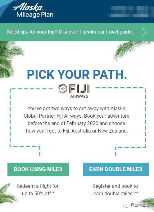 《只要20K里程就可以从美国去南太平洋 / 大洋洲玩耍了哦》
